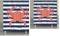 Laural Home Crab Stripe Shower Curtain