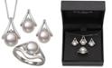 Belle de Mer 3-Pc. Set Cultured Freshwater Pearl (7 & 8mm) Pendant Necklace, Stud Earrings & Ring in Sterling Silver