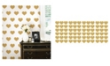 Brewster Home Fashions Gold Heart Minipops
