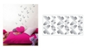 Brewster Home Fashions Butterfly Foil Wall Stickers Set Of 30