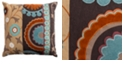 """Rizzy Home 20"""" x 20"""" Flourished Medallion Pillow Collection"""