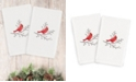 Linum Home CLOSEOUT!  Christmas Cardinal 100% Turkish Cotton 2-Pc. Hand Towel Set