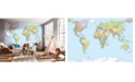Brewster Home Fashions World Map Mural