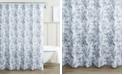 Laura Ashley Annalise Floral 100% Cotton Shower Curtain