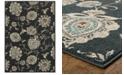 "Oriental Weavers Highlands 2444I Midnight/Ivory 3'10"" x 5'5"" Area Rug"