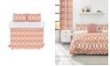 Colorfly Piper Duvet Cover Set, Full/Queen, Coral