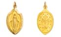 Macy's 14k Gold Charm, Miraculous Medal Charm