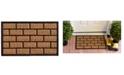 """Home & More Brickmann 18"""" x 30"""" Coir/Rubber Doormat"""