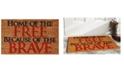 "Home & More Home of the Free 17"" x 29"" Coir/Vinyl Doormat"