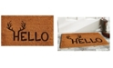 "Home & More Antler Hello 17"" x 29"" Coir/Vinyl Doormat"