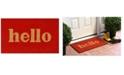 """Home & More Hello Script 24"""" x 36"""" Coir/Vinyl Doormat"""