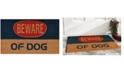 """Home & More Dog Warning 17"""" x 29"""" Coir/Vinyl Doormat"""