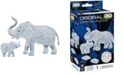 BePuzzled 3D Crystal Puzzle-Elephant and Baby - 46 Pcs