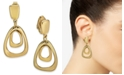 Charter Club Organic Orbital Drop Clip-On Earrings, Created for Macy's