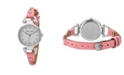 Laura Ashley Pink Ladies' Dial Analog Display Twisted Band Round Watch