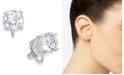 Lauren Ralph Lauren Silver-Tone Cubic Zirconia Clip On Earrings
