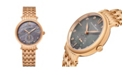 Stuhrling Alexander Watch AD201B-04, Ladies Quartz Small-Second Watch with Rose Gold Tone Stainless Steel Case on Rose Gold Tone Stainless Steel Bracelet