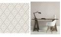 "Brewster Home Fashions Vertex Diamond Geometric Wallpaper - 396"" x 20.5"" x 0.025"""