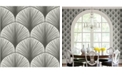 """Brewster Home Fashions Dusk Frond Wallpaper - 396"""" x 20.5"""" x 0.025"""""""