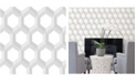 "Brewster Home Fashions Hex Geometric Wallpaper - 396"" x 20.5"" x 0.025"""
