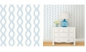 "Brewster Home Fashions Helix Stripe Wallpaper - 396"" x 20.5"" x 0.025"""