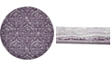 Bridgeport Home Felipe Fel1 Purple 8' x 8' Round Area Rug