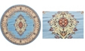 Bridgeport Home Birsu Bir1 Light Blue 8' x 8' Round Area Rug