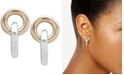 Lauren Ralph Lauren Two-Tone Circle & Bar Drop Earrings