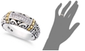 EFFY Collection Balissima by EFFY® Diamond Accent Round Swirl Ring in 18k Gold and Sterling Silver