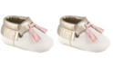 Baby Deer Baby Girl Soft Vinyl 3/4 High Moccasin with Fringe and Tassels
