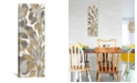 """iCanvas Painted Tropical Screen, Gray Gold I by Silvia Vassileva Gallery-Wrapped Canvas Print - 36"""" x 12"""" x 0.75"""""""