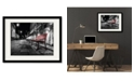 """Courtside Market Night Bench 16"""" x 20"""" Framed and Matted Art"""