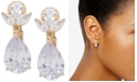 Anne Klein Gold-Tone Crystal E-Z Comfort Clip-On Earrings