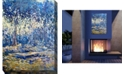 "West of the Wind River Blue Indoor/Outdoor Art, 30"" x 40"""