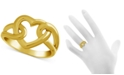 Essentials Open Heart Link Ring in Gold-Plate