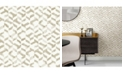 """A-Street Prints 20.5"""" x 396"""" Instep Champagne Abstract Geometric Wallpaper"""