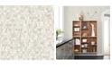 """A-Street Prints 20.5"""" x 396"""" Dobby Champagne Geometric Wallpaper"""