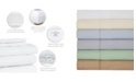 Aspire Linens 400 Thread Count with Hemstitch 4-PC Solid Full Sheet Set