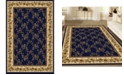 """KM Home CLOSEOUT! 1427/1740/NAVY Navelli Blue 3'3"""" x 5'4"""" Area Rug"""