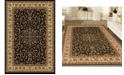 "KM Home CLOSEOUT! 1318/1521/BLACK Navelli Black 5'5"" x 8'3"" Area Rug"