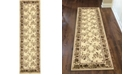 "KM Home CLOSEOUT! 1590/2005/IVORY Pesaro Ivory 2'2"" x 7'7"" Runner Rug"