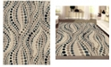 "KM Home CLOSEOUT! 3795/1001/BONE Imperia Ivory/ Cream 5'3"" x 7'3"" Area Rug"
