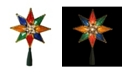 "Northlight 8"" Multi-Color Mosaic 8-Point Star Christmas Tree Topper - Clear Lights"
