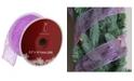 "Northlight Glittering Purple Wired Christmas Craft Ribbon 2.5"" x 10 Yards"