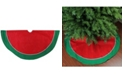 """Northlight 48"""" Traditional Red and Green with White Piping Christmas Tree Skirt"""