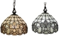 Amora Lighting Tiffany Style Ceiling Fixture