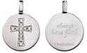 CHARMBAR Swarovski Zirconia Cross Reversible Charm Pendant in Sterling Silver