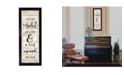 "Trendy Decor 4U Hug Around the Neck By Cindy Jacobs, Printed Wall Art, Ready to hang, Black Frame, 10"" x 26"""