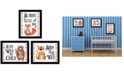 """Trendy Decor 4U Be Brave Little One Collection By Susan Boyer, Printed Wall Art, Ready to hang, Black Frame, 18"""" x 14"""""""
