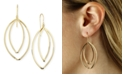 Macy's Marquise Twist Drop Earrings Set in 14k Gold